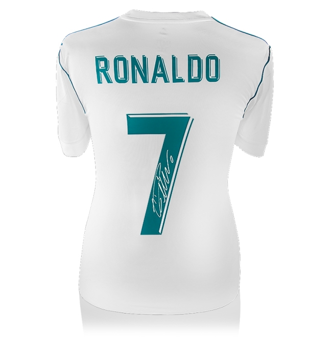 a1bacf7109e Cristiano Ronaldo Signed Real Madrid 2017 18 Shirt - Number 7 Fan Style