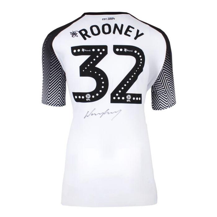 Wayne Rooney Signed Derby County Shirt 2019 20 Rooney 32 Genuine Signed Sports Memorabilia