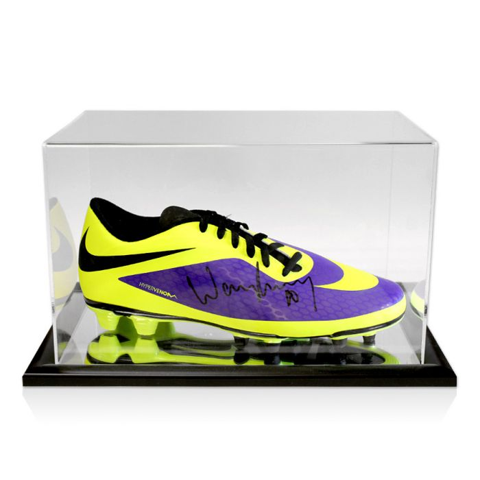 Escalera Revocación Escéptico  Wayne Rooney Signed Boot Nike Hypervenom Purple With Acrylic Display Case -  Genuine Signed Sports Memorabilia