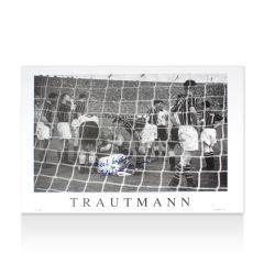 Bert Trautmann Signed Manchester City Photo Montage Autograph