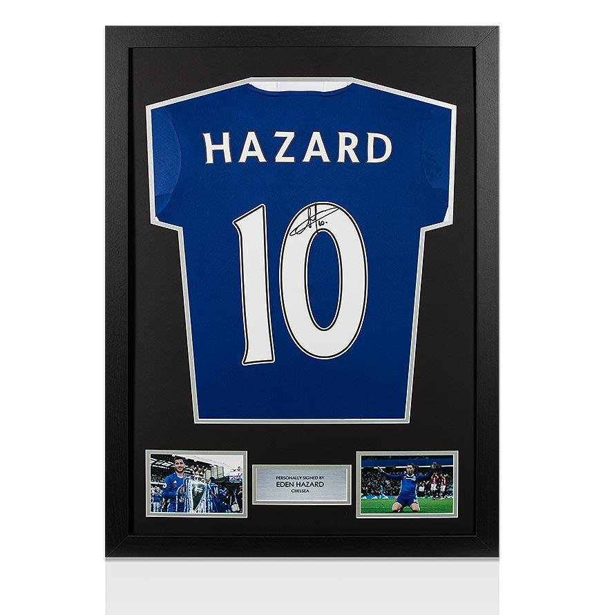 Framed Eden Hazard Signed Chelsea Shirt - 2016/2017 Autograph Jersey ...