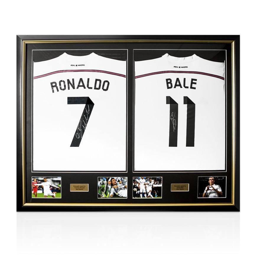 Framed Cristiano Ronaldo & Gareth Bale Hand Signed Real Madrid ...