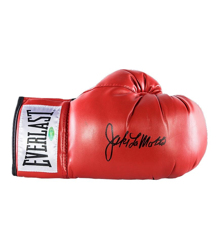 Jake LaMotta SIGNED Boxing Glove Autograph Everlast AFTAL PROOF Memorabilia COA