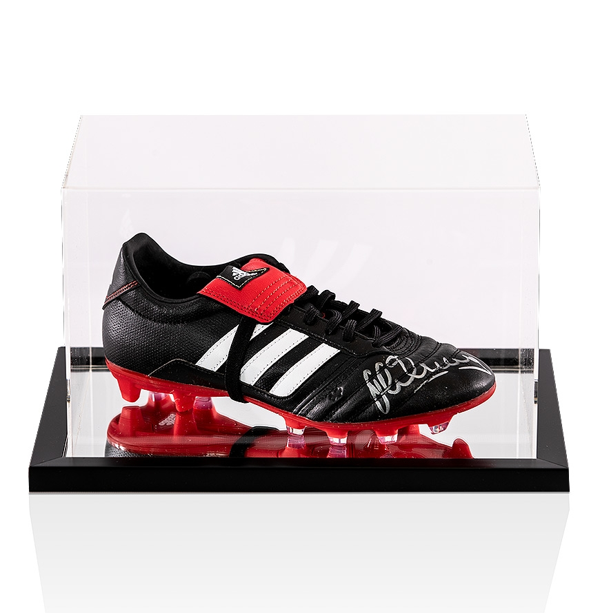 pick up 475fc fa382 Michael Owen Signed Football Boot Adidas Gloro - In Acrylic Case