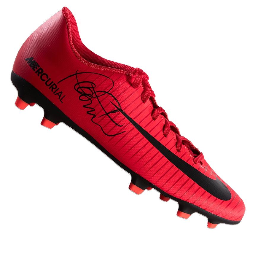 Serena Serpiente En consecuencia  Philippe Coutinho Bota De Fútbol Firmada-Rojo Nike Mercurial autógrafo  Cornamusa | eBay