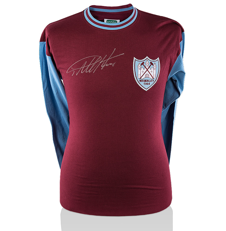 Sir Geoff Hurst Signed West Ham Shirt 1964 Fa Cup