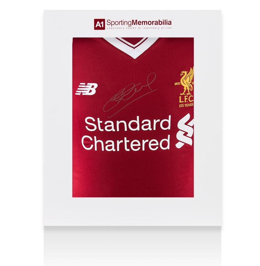 Steven Gerrard Silver Front Signed Liverpool Shirt - Home d80229047