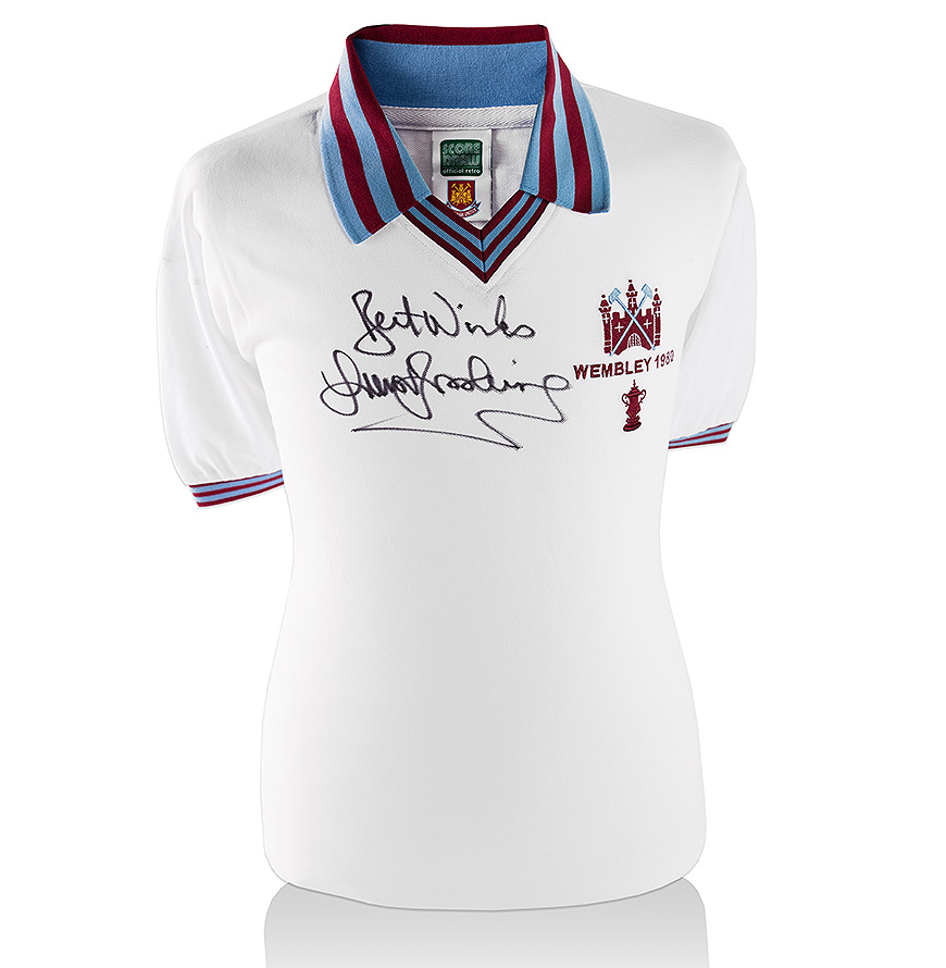 Sir Trevor Brooking Signed West Ham Shirt 1980 Fa Cup