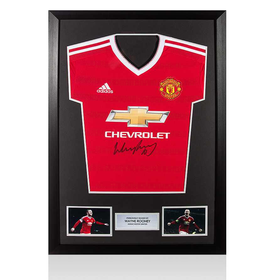 Framed Wayne Rooney Signed Manchester United Shirt - 2015/2016 ...