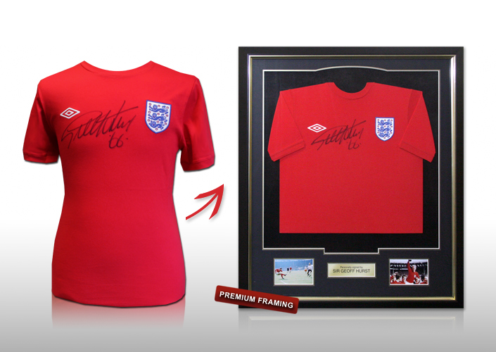Sir Geoff Hurst signed framed shirt