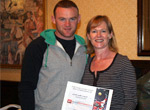Freda Baker with Wayne Rooney